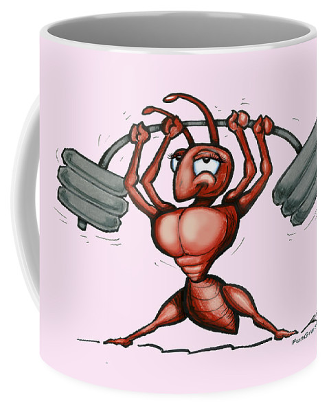Ant Coffee Mug featuring the greeting card Ant by Kevin Middleton