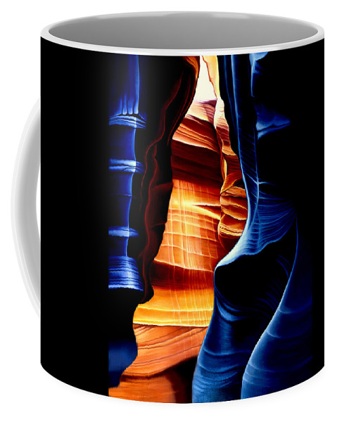 Landscape Coffee Mug featuring the painting Antelope Canyon by Anni Adkins