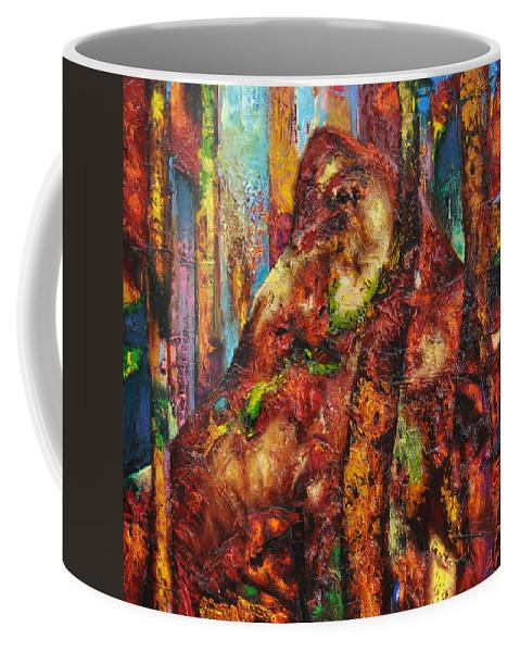 Ignatenko Coffee Mug featuring the painting Anthill by Sergey Ignatenko
