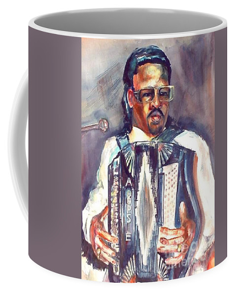 Accordian Coffee Mug featuring the painting Anthony by Beverly Boulet