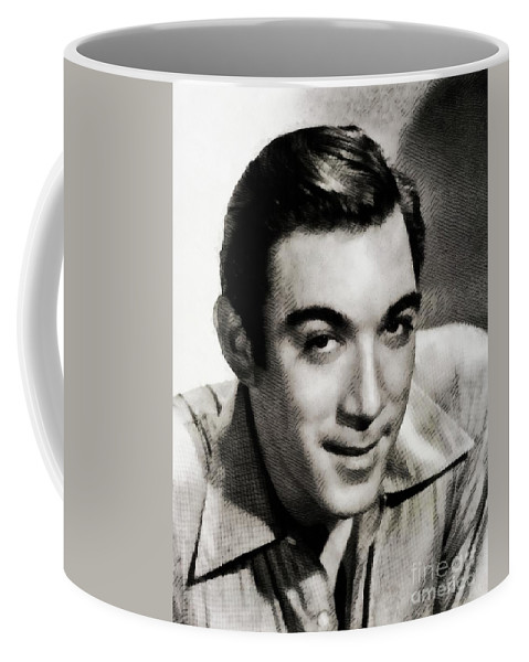 Anthony Coffee Mug featuring the painting Anthony Quinn, Hollywood Legend by John Springfield
