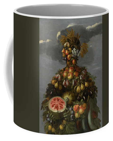 Circle Of Giuseppe Arcimboldo Anthropomorphic Allegory Of Summer Coffee Mug featuring the digital art Anthropomorphic Allegory Of Summer by Mark Carlson
