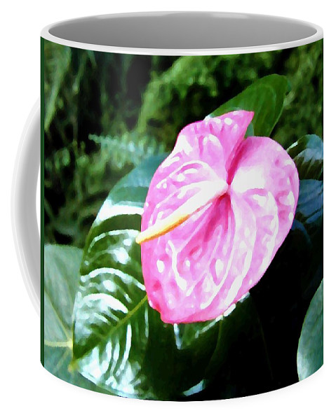 1986 Coffee Mug featuring the digital art Anthurium by Will Borden