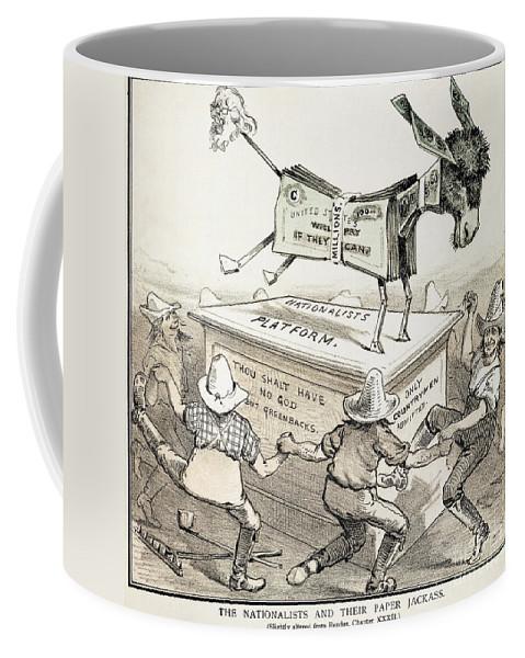 1876 Coffee Mug featuring the photograph Anti-greenback Cartoon by Granger