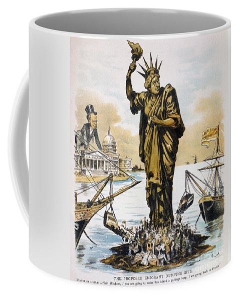 1890 Coffee Mug featuring the photograph Anti-immigration Cartoon by Granger