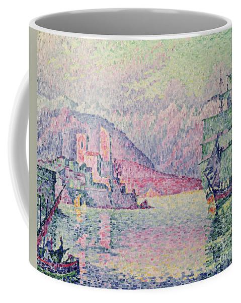 Antibes Coffee Mug featuring the painting Antibes by Paul Signac