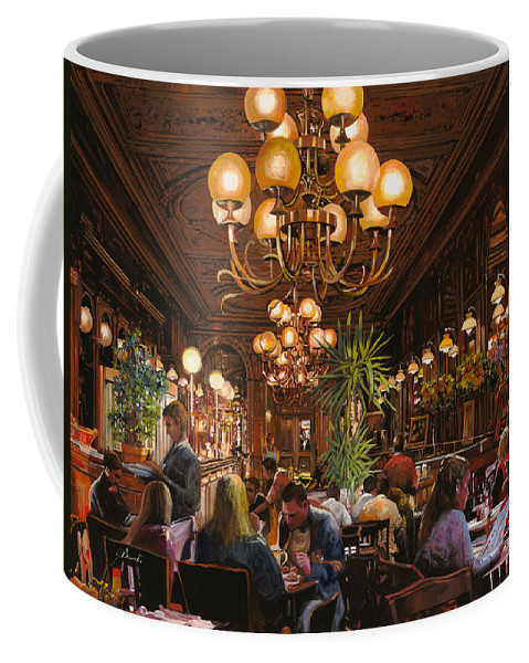 Brasserie Coffee Mug featuring the painting Antica Brasserie by Guido Borelli