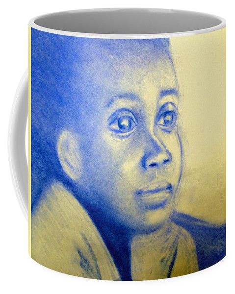 Coffee Mug featuring the drawing Anticipation by Jan Gilmore