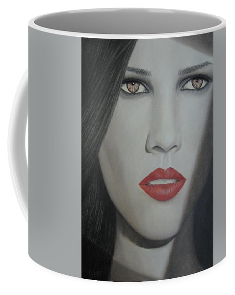 Woman Coffee Mug featuring the painting Anticipation by Lynet McDonald