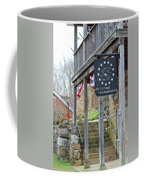 Antietam Battlefield Coffee Mug featuring the photograph Antietam Ironworks by JB Stran