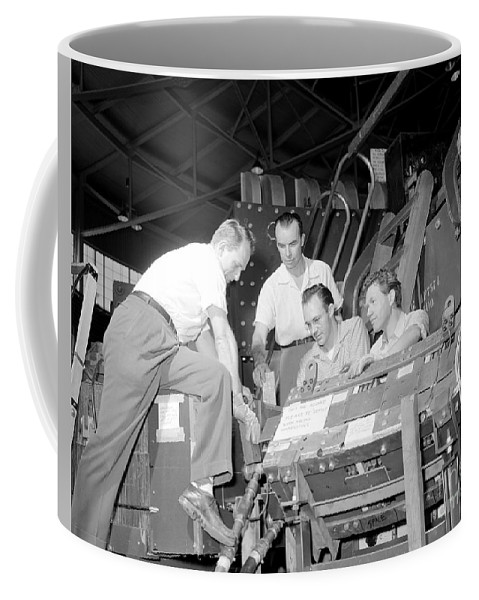 Science Coffee Mug featuring the photograph Antineutron Discovery Team, 1956 by Science Source