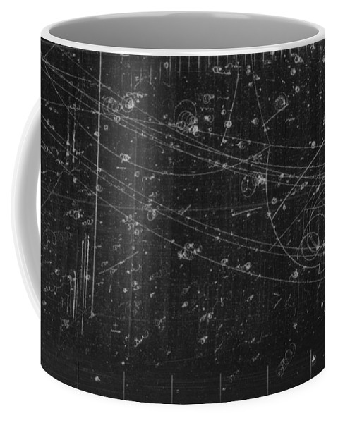 Science Coffee Mug featuring the photograph Antiproton Annihilation, Bubble Chamber by Science Source