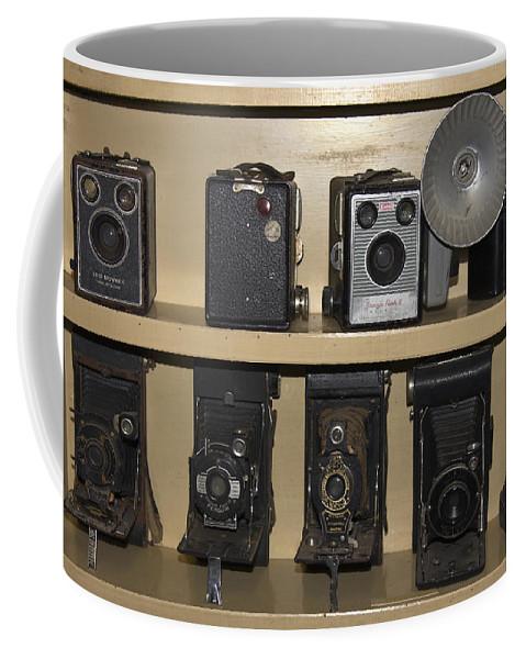 Antique Cameras Coffee Mug featuring the photograph Antique Cameras by Sally Weigand