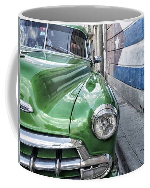 Caribbean Coffee Mug featuring the photograph Antique Car And Mural 2 by Dan Leffel
