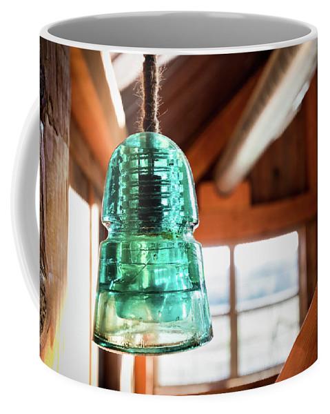 Light Fixture Coffee Mug featuring the photograph Antique Light Fixture 3 by Steven Jones