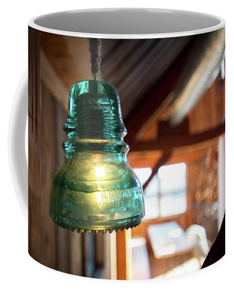 Light Fixture Coffee Mug featuring the photograph Antique Light Fixture 4 by Steven Jones