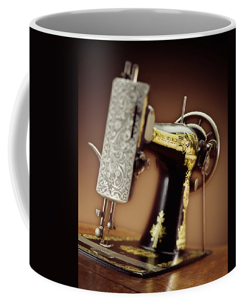 Singer Coffee Mug featuring the photograph Antique Singer Sewing Machine 2 by Kelley King
