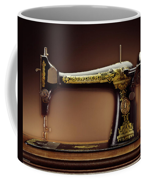 Singer Coffee Mug featuring the photograph Antique Singer Sewing Machine by Kelley King
