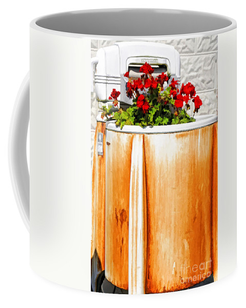 Washing Coffee Mug featuring the photograph Antique Speed Queen Washing Machine by Kathleen K Parker