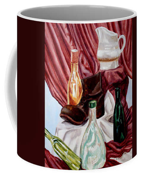 Still Life Coffee Mug featuring the painting Antiques Velore by Elizabeth Robinette Tyndall