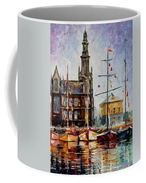 Afremov Coffee Mug featuring the painting Antwerp - Belgium by Leonid Afremov
