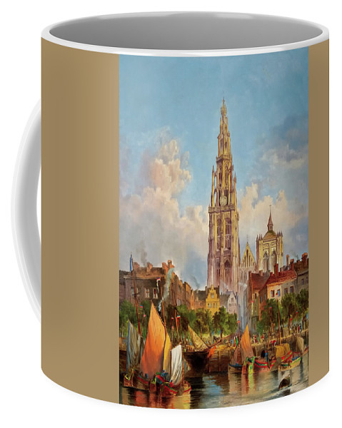 Painting Coffee Mug featuring the painting Antwerp by Mountain Dreams