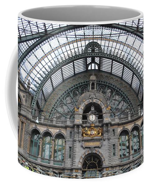 Antwerp Coffee Mug featuring the photograph Antwerp Train by Jost Houk