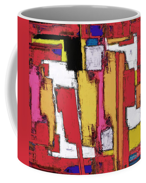 Anvil Coffee Mug featuring the digital art Anvil by Keith Mills