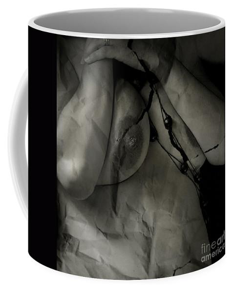 Nude Coffee Mug featuring the photograph Anxiety by Angel Ciesniarska