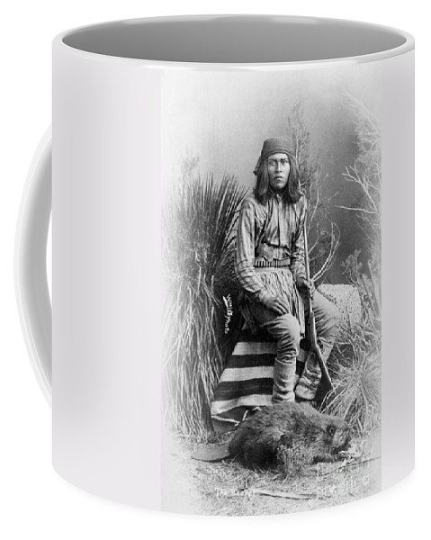 1885 Coffee Mug featuring the photograph Apache Leader, 1885 by Granger