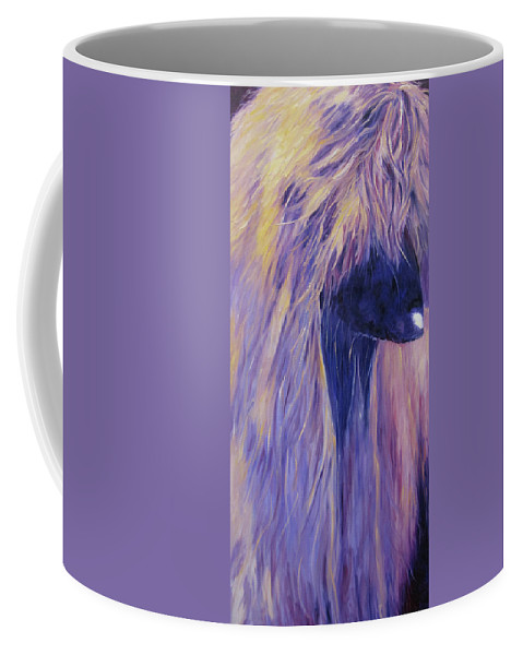Art Coffee Mug featuring the painting Apache by Terry Chacon