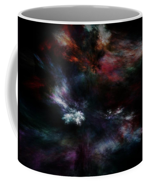 Abstract Digital Painting Coffee Mug featuring the digital art Apocalyptical Dawn by David Lane