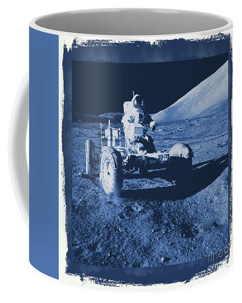 Nasa Coffee Mug featuring the digital art Apollo 17 Lunar Rover - Nasa by Raphael Terra