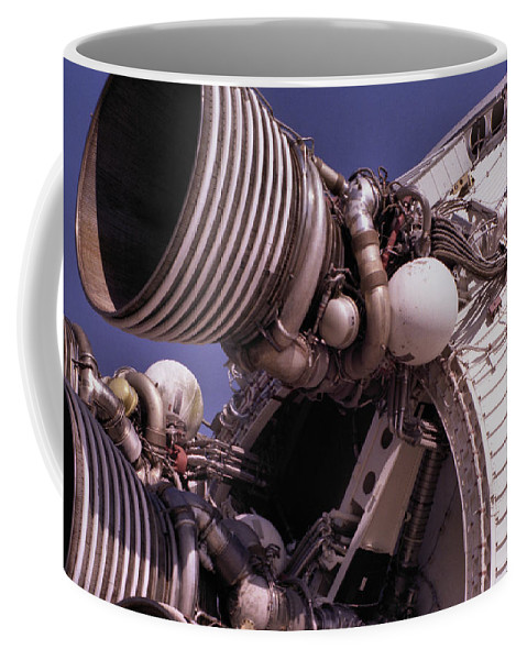 Technology Coffee Mug featuring the photograph Apollo Rocket Engine by Richard Rizzo
