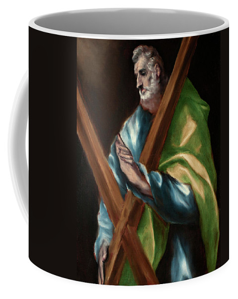 Andrew Coffee Mug featuring the painting Apostle Saint Andrew by El Greco