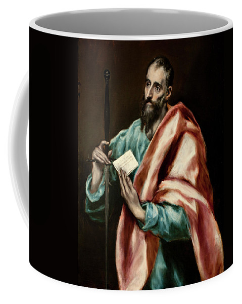 Apostle Coffee Mug featuring the painting Apostle Saint Paul by El Greco