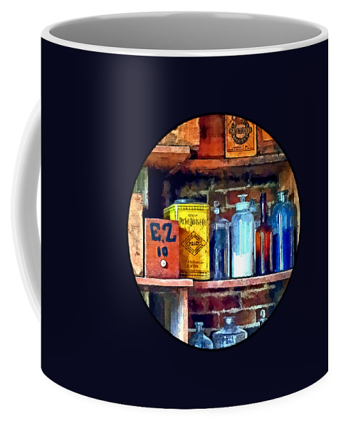 Apothecary Coffee Mug featuring the photograph Apothecary Stockroom by Susan Savad