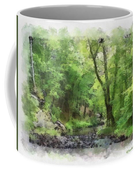 Wright Coffee Mug featuring the photograph Appalachian Creek by Paulette B Wright