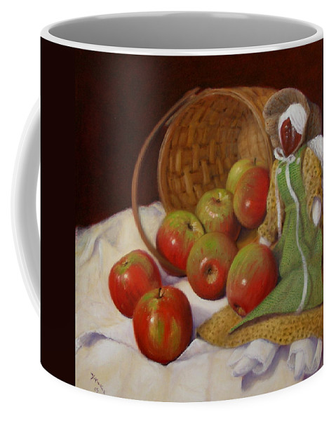 Realism Coffee Mug featuring the painting Apple Annie by Donelli DiMaria