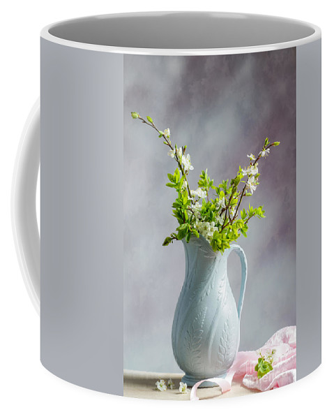 Blue Coffee Mug featuring the photograph Apple Blossom by Amanda Elwell