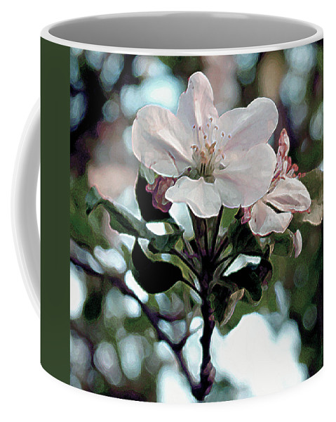 Flowers Coffee Mug featuring the painting Apple Blossom Time by RC deWinter