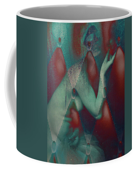 Abstract Coffee Mug featuring the photograph Apple Size Room by The Artist Project