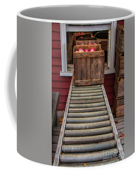 Apple Unloading Time Coffee Mug featuring the photograph Apple Unloading Time by Elizabeth Dow
