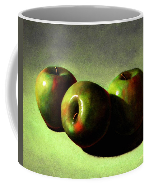 Still Life Coffee Mug featuring the painting Apples by Frank Wilson