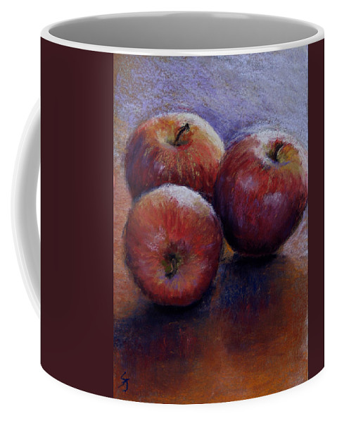 Still Life Coffee Mug featuring the pastel Apples IIi by Susan Jenkins