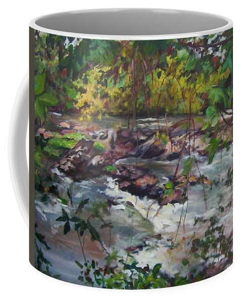 Landscape Coffee Mug featuring the painting Appomattox View by Sheila Holland