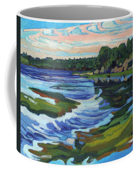 Deformation Coffee Mug featuring the painting Approaching Low by Phil Chadwick