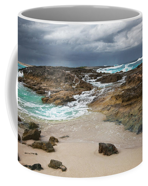Beach Coffee Mug featuring the photograph Approaching Storm by Bruce Beck