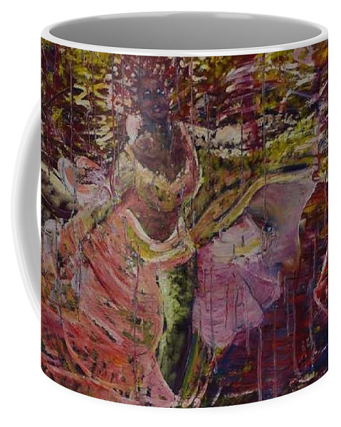 Portrait Coffee Mug featuring the painting April 29th. by Peggy Blood