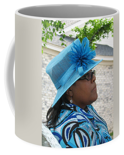 Hat Coffee Mug featuring the photograph April by Kelly Mezzapelle
